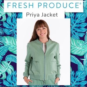 "Fresh Produce Priya Bomber Jacket in ""Lagoon"" NWT"